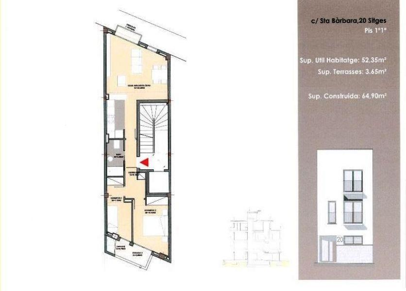 REF:06618 - Apartamento exclusivo de obra nueva en el corazón de Sitges