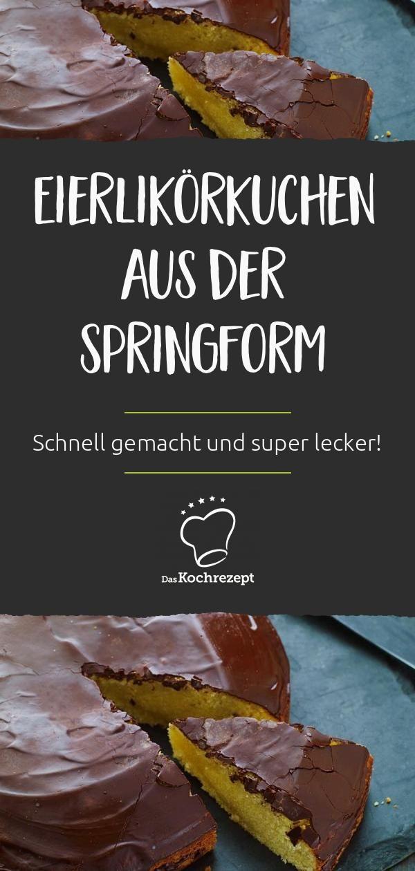 Eierlikörkuchen aus der Springform #easypierecipes
