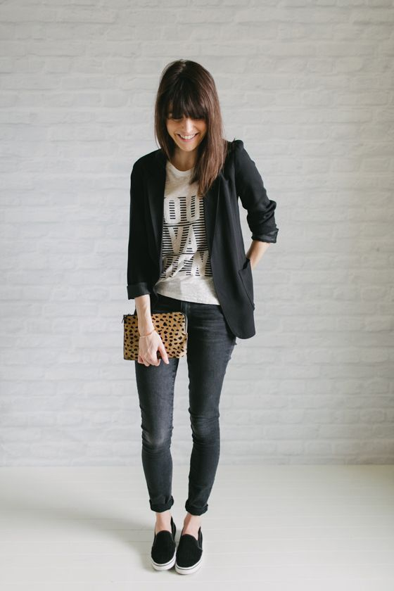 0df3cbac4b Pin de Beauty and Fashion Ideas en 32 Outfits con blazer negro ¡Mira como  combinarlos!