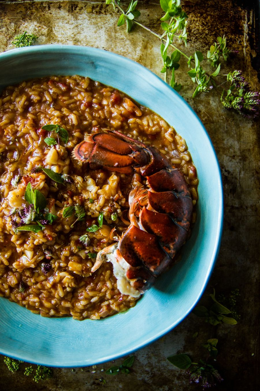 Lobster and Spiced Tomato Risotto