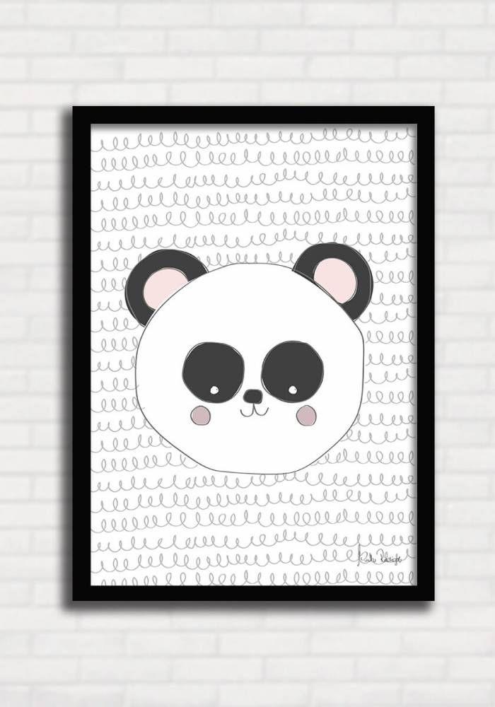 Poster p/ Criança Panda Bear - Suh Riediger TO8247