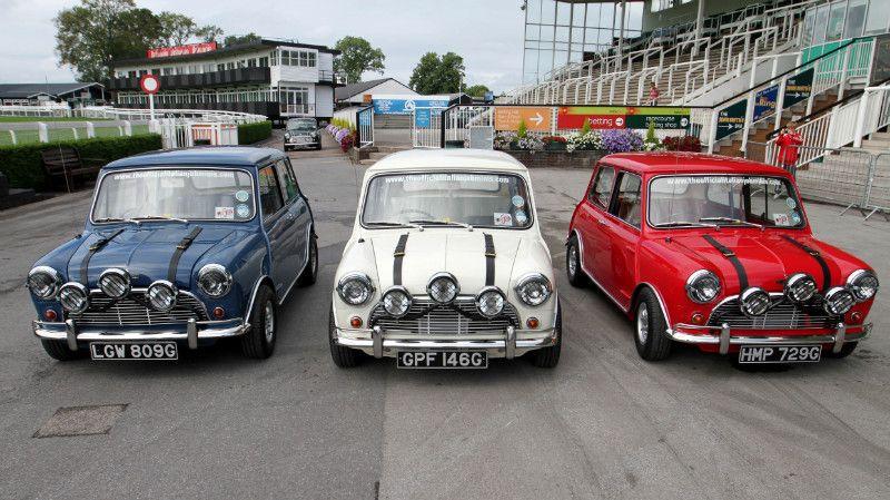 """Los tres Mini Cooper que aparecieron en la película """"Un"""