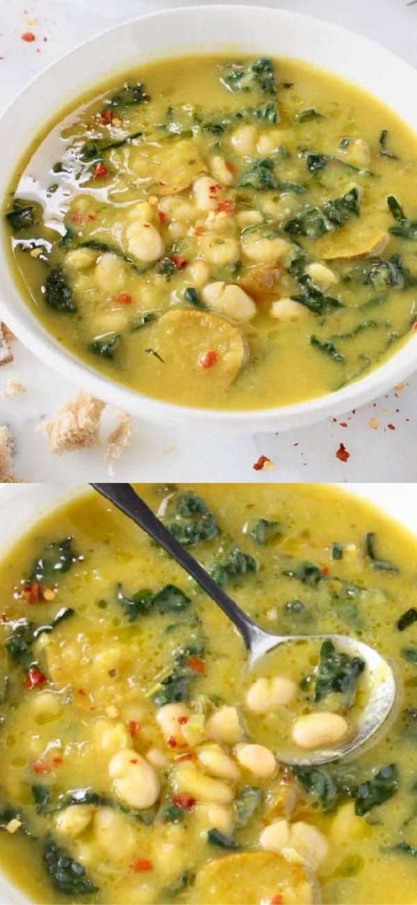 Tuscan White Bean Kale Soup