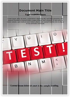 Test Words Word Document Template Is One Of The Best Word Document