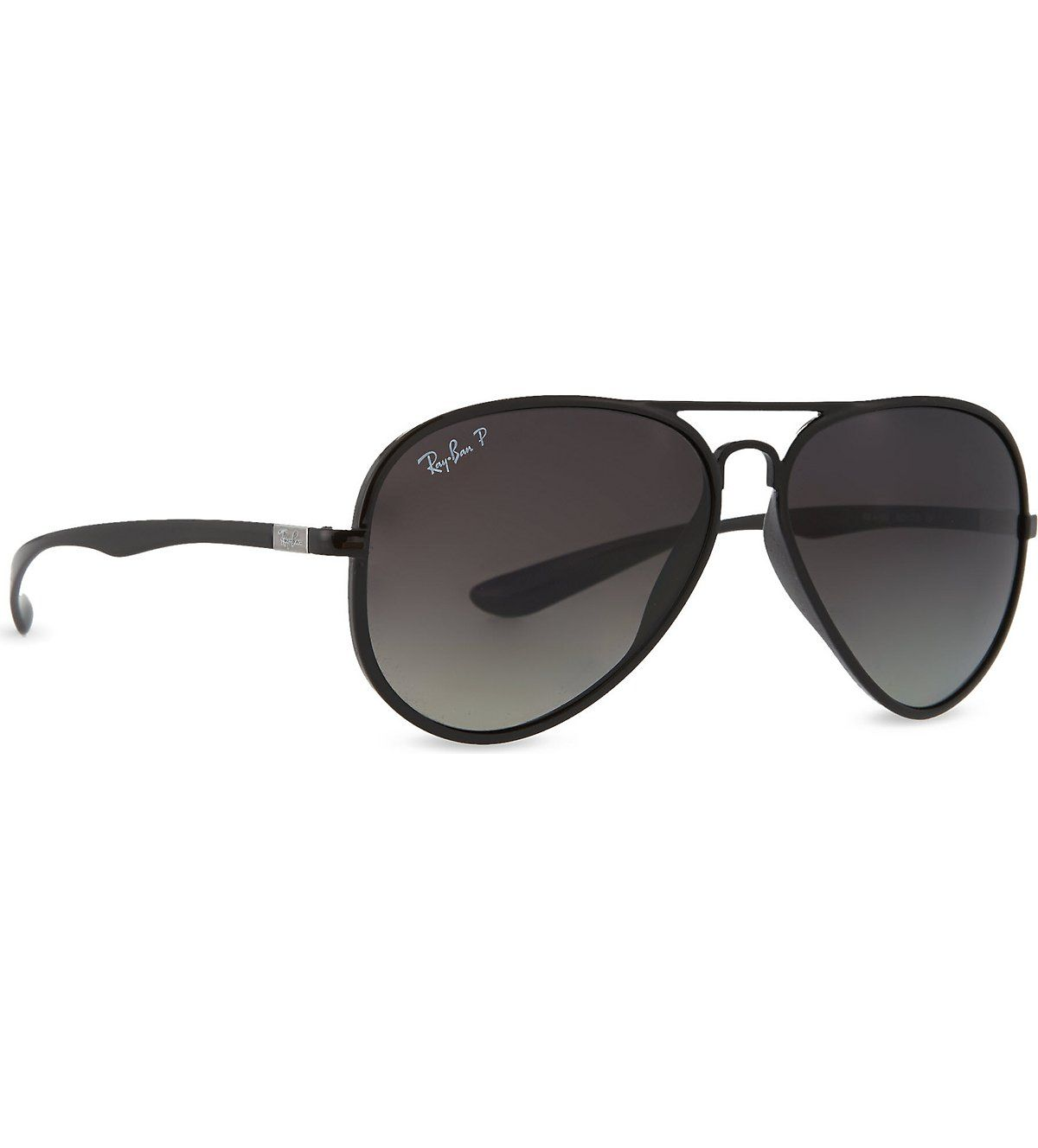 RAY-BAN Black aviator sunglasses RB4180 59 (Shiny black | Giftit to ...