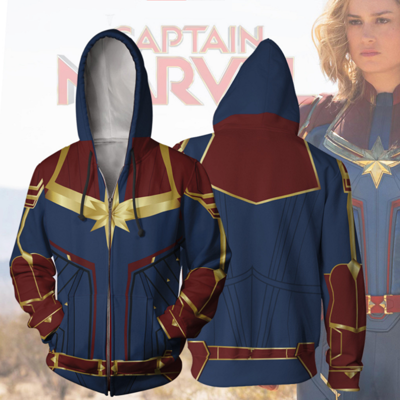 Captain Marvel T-shirt Ms Marvel Hoodie Carol Danvers Cosplay Sports clothes
