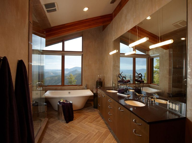 Contemporary Bathrooms With Vaulted Ceiling Contemporary - Contemporary bathrooms vaulted ceiling