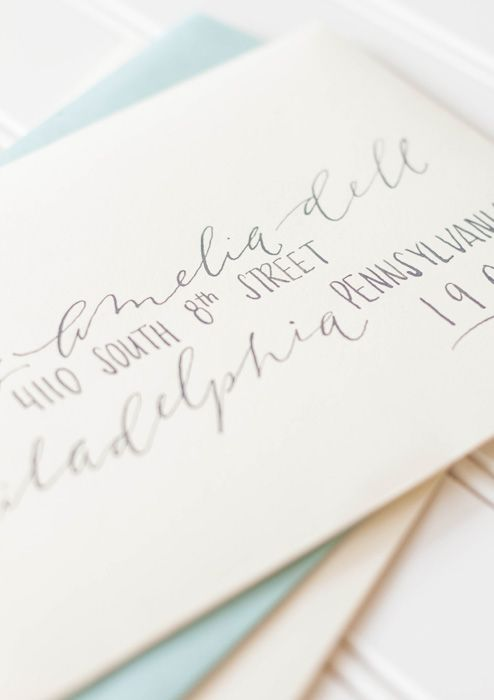 Beautiful and creative way to address envelopes