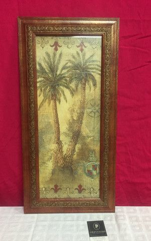 Greystone Fine Furniture Tall Framed Palm Tree Print 15