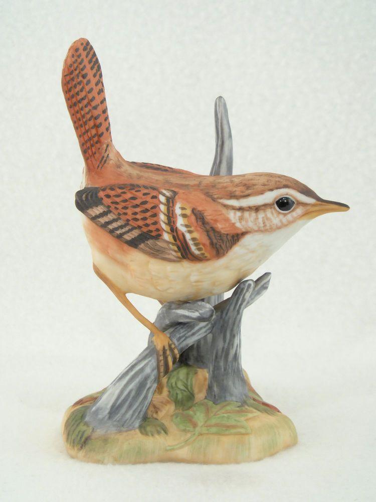 Maruri Porcelain Carolina Wren Bird Figurine Birds Figurines Collectibles