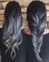 #grannyhair 2.0: Graue Ombré Haare sind jetzt Trend!  Grau + Ombré + Haare    …