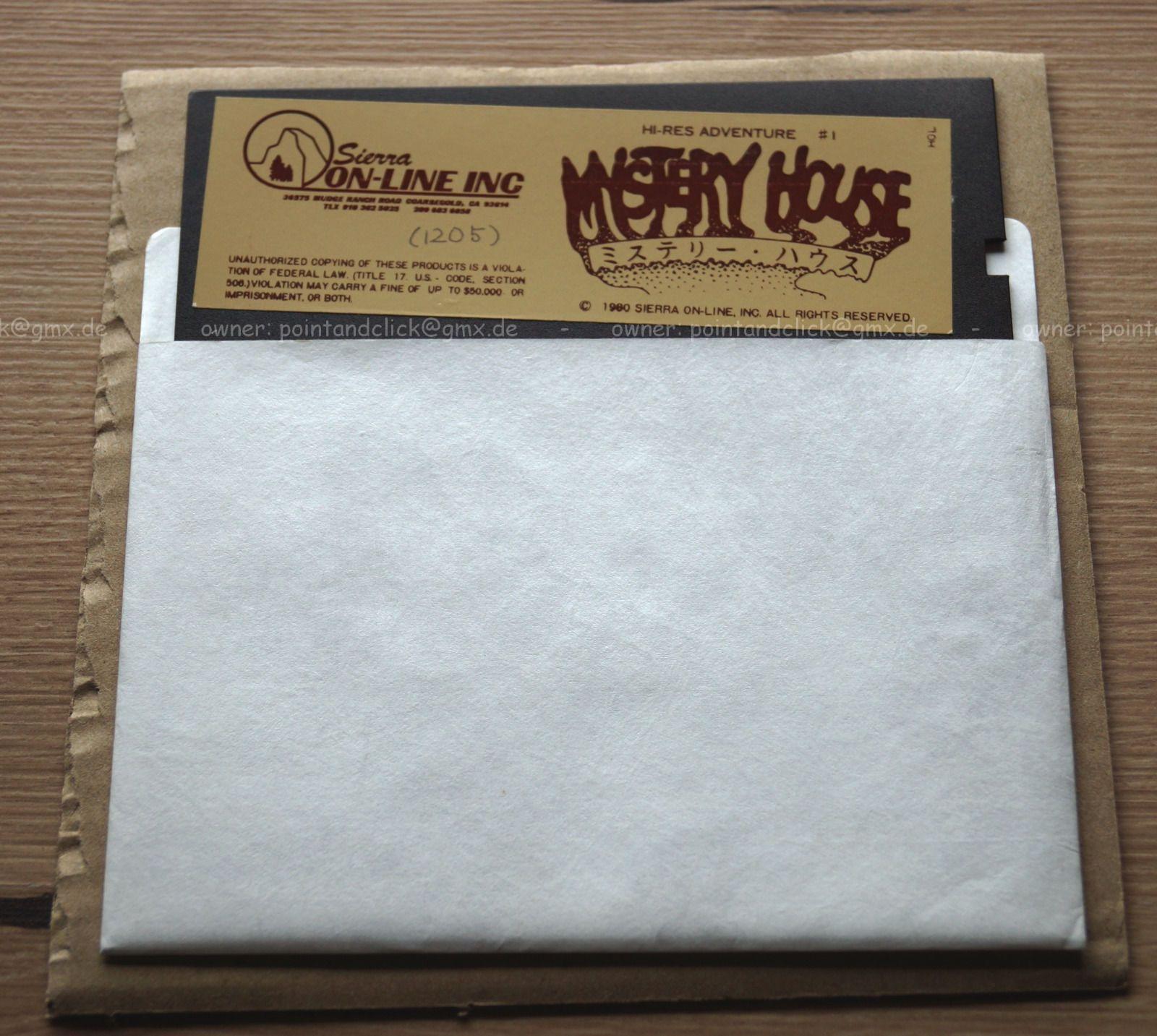 Sierra OnLine Mystery House Japanese label for Apple II