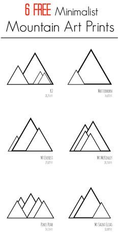 GroBartig Six FREE Printable Minimalist Mountain Art Prints. Print These Modern  Designs At Home For Inexpensive