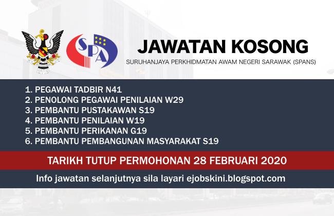 Jawatan Kosong Suruhanjaya Perkhidmatan Awam Negeri Sarawak Spans 2020 Di 2020 Februari Pustakawan