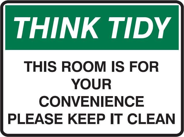 Printable Keep Breakroom Clean Signs Tidy Signs This Room Is - Office door signs templates