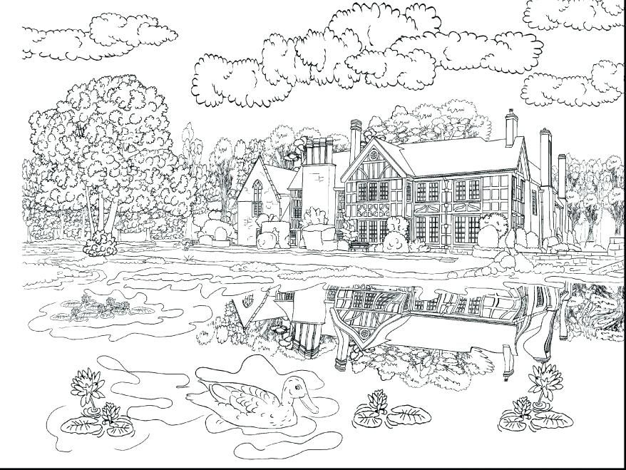 Fall Scenery Coloring Pages Stunning Ideas Resume Astounding Beautiful With And Interesting Free Printable