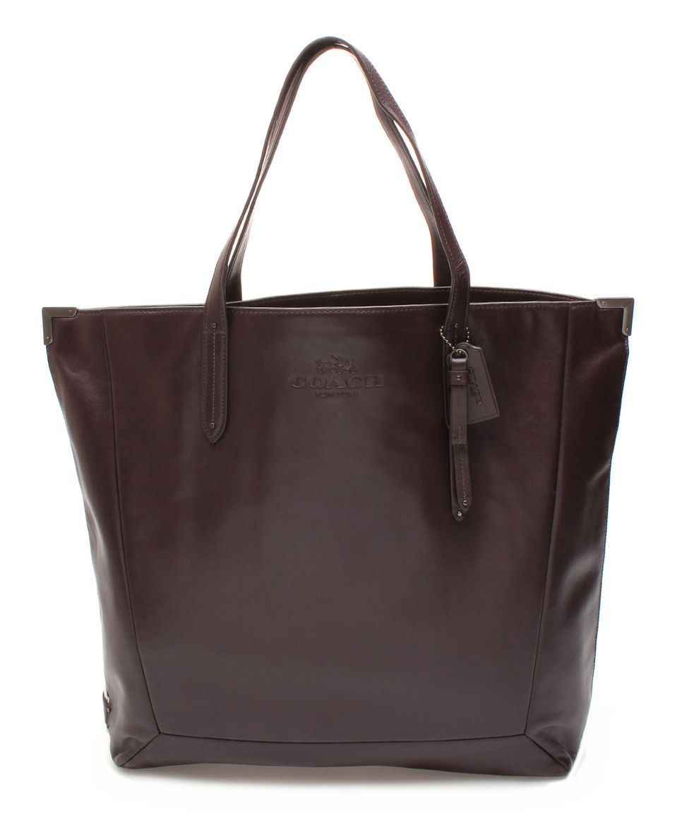 Another great find on #zulily! Bordeaux Jose Leather Tote by Coach #zulilyfinds