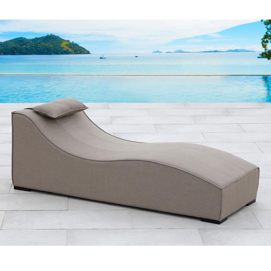 Excellent Ove Decors Breeze Aluminum Chaise Lounge Chair With Taupe Cjindustries Chair Design For Home Cjindustriesco