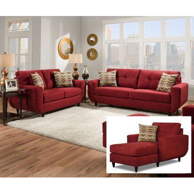 Brayden Studio Gudino Configurable Living Room Set