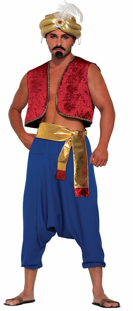 Adult Mens Arabian Prince Fancy Dress Costume Aladdin Oufit New by Smiffys