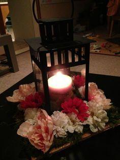 lantern wedding centerpieces   Lantern Centerpiece Mock Up : wedding blush centerpiece diy flowers ...