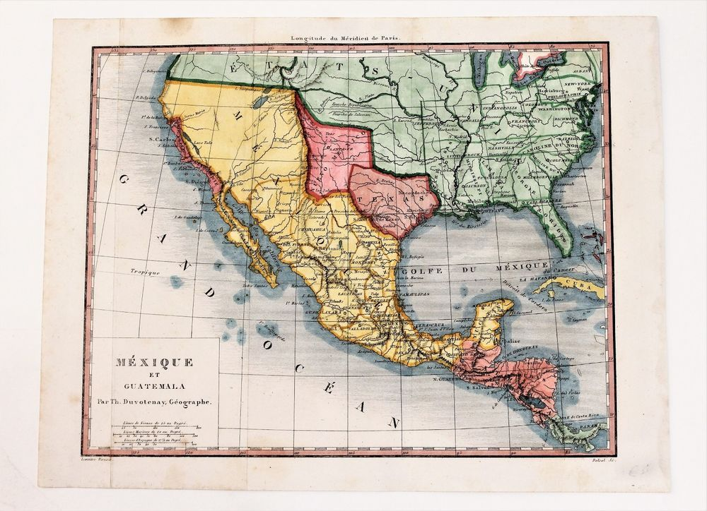 1841 Texas Republic Map Mexico United States San Antonio De Bexar ...