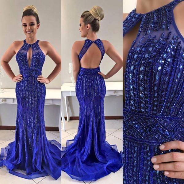 Fotos de vestidos azul royal para formatura
