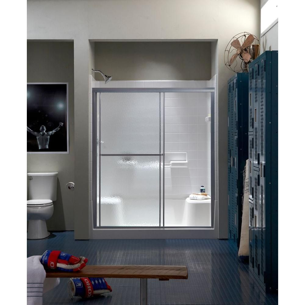 Sterling Standard 59 In X 65 In Framed Sliding Shower Door In