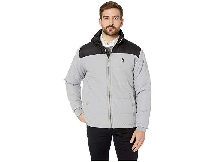 Polo Assn Mens Color Block Puffer Jacket U.S