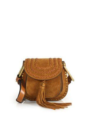 188a79532790f CHLOÉ Hudson Mini Tasseled Suede Crossbody Bag. #chloé #bags #shoulder bags  #stone #crossbody #suede #