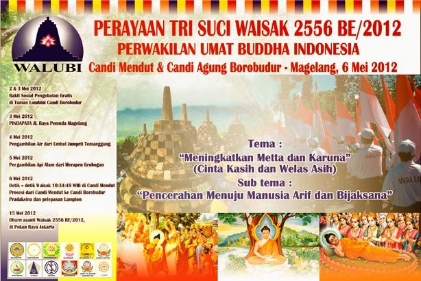 Vesak Day 2556 BE/2012 Ceremony at the Borobudur Temple