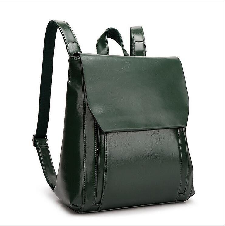 2016 Fashion Designe Women Backpack Genuine Leather Backpack Casual School Bag for Teenage Girls Female Travel Bag