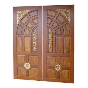Teak Wood Main Double Door Designs In Kerala