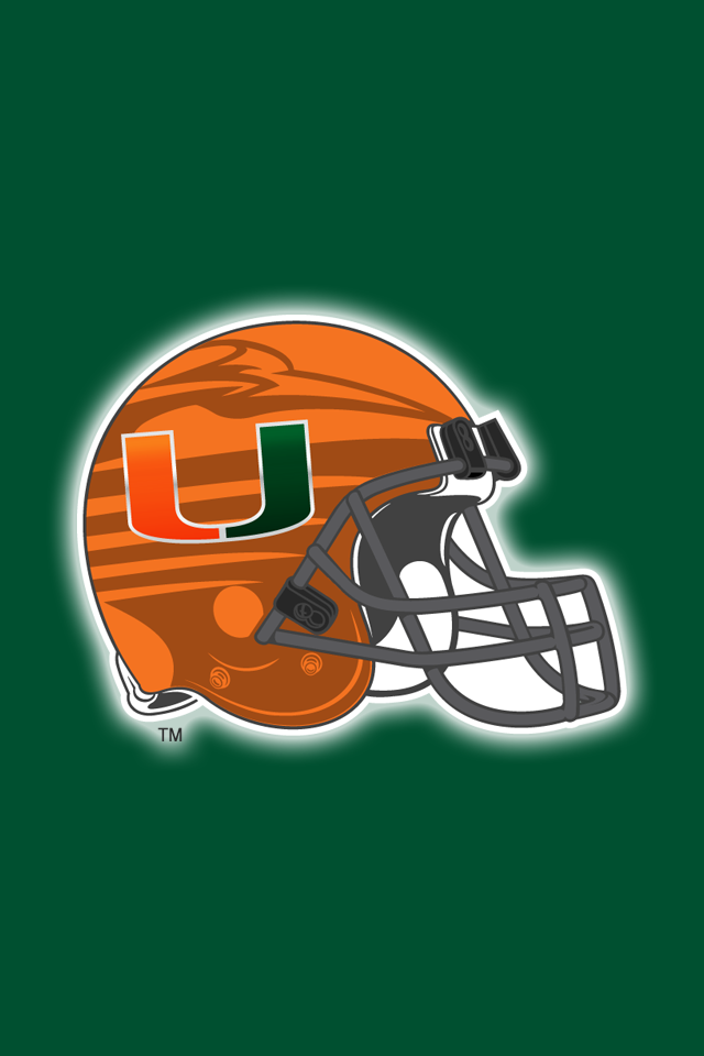 Get A Set Of 12 Officially Ncaa Licensed Miami Hurricanes Iphone Wallpapers Sized Precisely For Any Model Of I Miami Hurricanes Hurricanes Football Team Colors