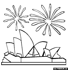 Image Result For Sydney Opera House Template Coloring Pages Online Coloring Pages Coloring Pages For Kids