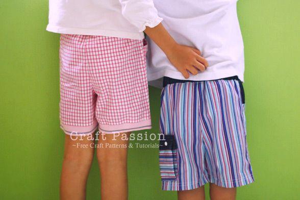 Kid Shorts - Free Sewing Pattern & Tutorial | Short pattern ...