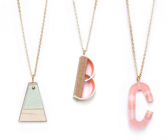 Abc Pendants Design Crush Sparkly Accessories Alphabet Necklace Jewelry