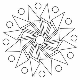 Мандалы - геометрические фигуры для раскрашивания ...