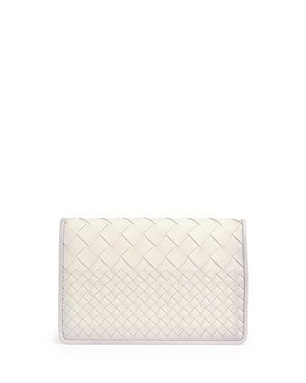 Intrecciato Medium Woven Clutch Bag ec8057efb4de5