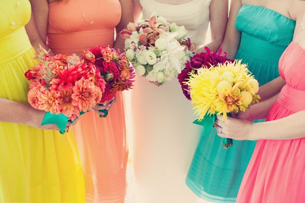 1000  images about Wedding  Multi-Color Ideas on Pinterest ...