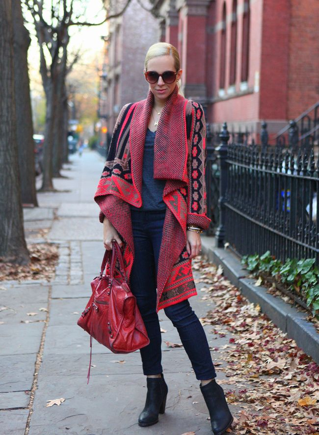 Dress Down Friday: Blanket Sweater #blanketsweater