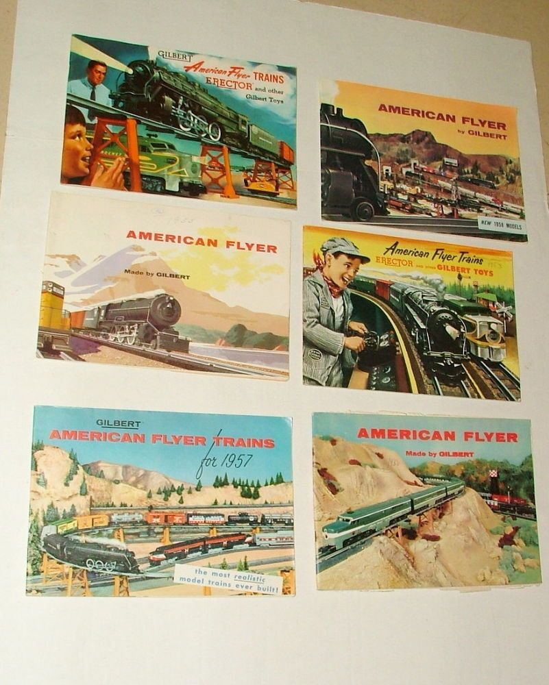 1950 toys images  us gilbert american flyer train salesman catologic collection