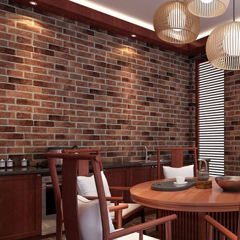 Pvc Realistic Home Bricks Rock Wall Paper Self Adhesive Bedroom Wallpaper