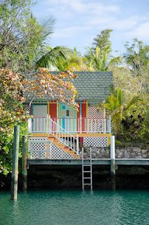 adorable boat house on the Grand Bahama