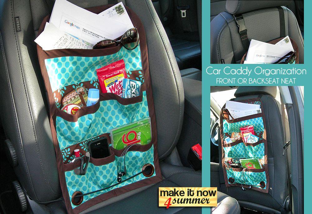 Make it Now 4 Summer: Car Trip Seat Caddy | sewing ideas | Pinterest ...