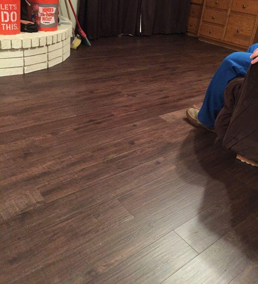 "Living room floor inspiration COREtec Plus 5"" Deep"