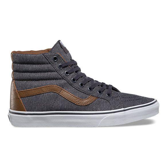 Explore Mens Grey Dress Shoes and more! The Denim C&L Sk8-Hi Reissue, the  legendary Vans ...