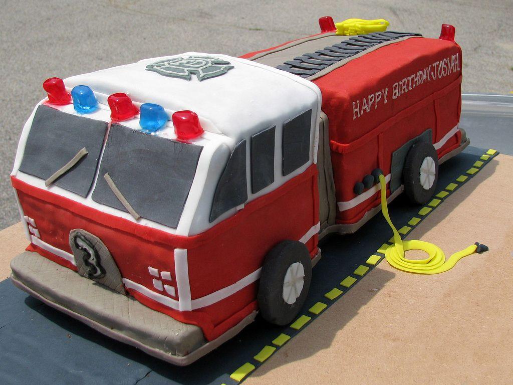 картинки торт пожарная машина кремом субботу