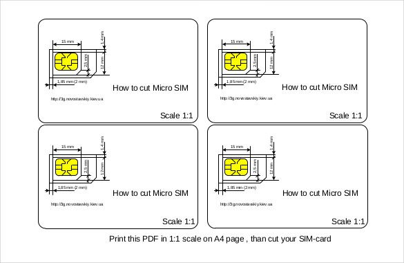 Micro Sim Template 10 Free Word Pdf Documents Download