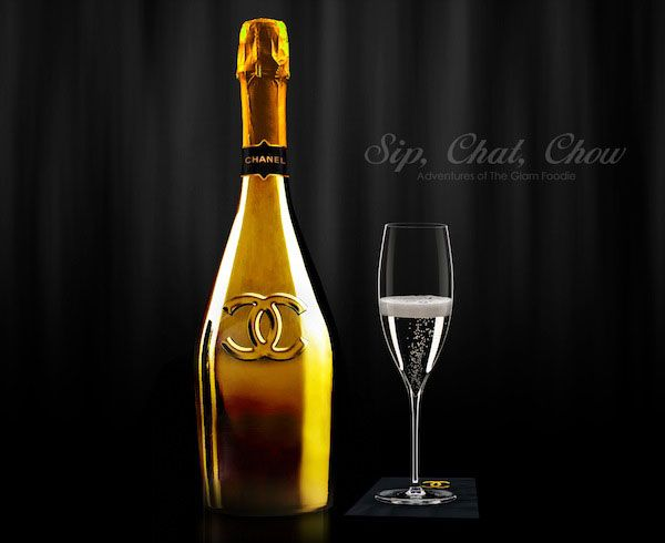 Manipulations With Stick Champagne
